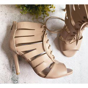 """Xappeal """"Erika"""" Cage Lace-Up Heels, Sz 6.5M"""